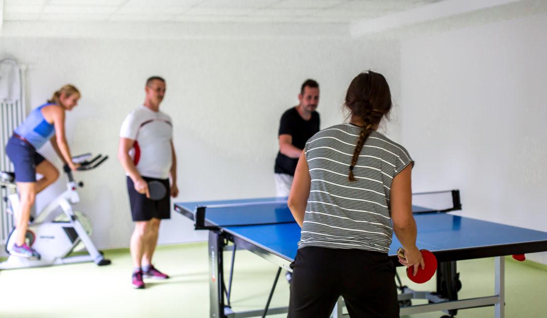 Tischtennis und Kraftraum